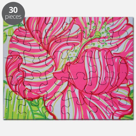 Hibiscus in Lilly Pulitzer Puzzle