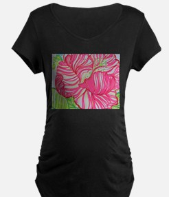 Hibiscus in Lilly Pulitzer Maternity T-Shirt