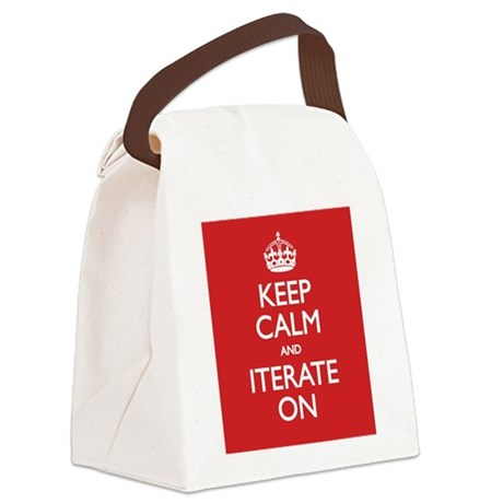 Keep Calm and Iterate On Canvas Lunch Bag