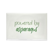 Powered By asparagus Rectangle Magnet (10 pack)