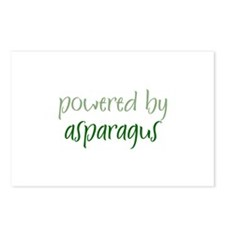 Powered By asparagus Postcards (Package of 8)