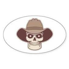 Cowboy Pirate Oval Decal