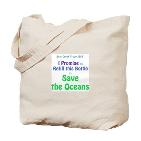 Save the Oceans water bottle Tote Bag