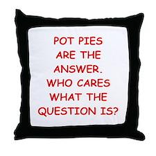 pot pie Throw Pillow