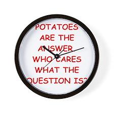 potatoes Wall Clock