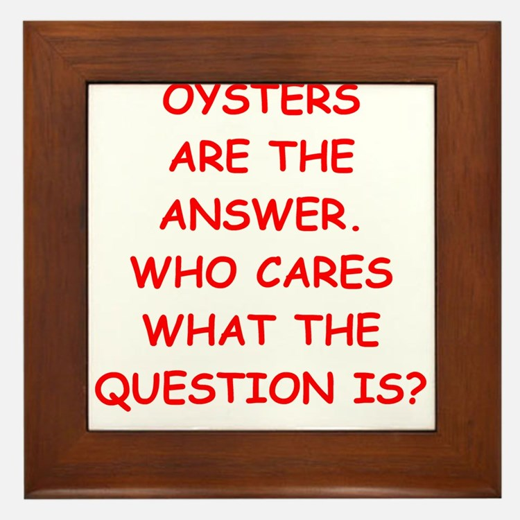 oysters Framed Tile
