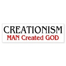 MAN Created GOD Bumper Bumper Sticker