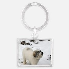 Great Pyrenees Puppy Keychains