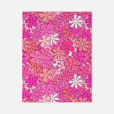 Groovy Pink Flowers Twin Duvet