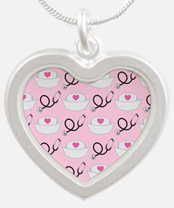Nurse Pattern Nursing Gift Necklaces