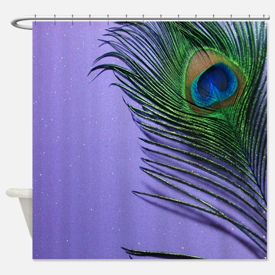 Lavender Peacock Shower Curtain