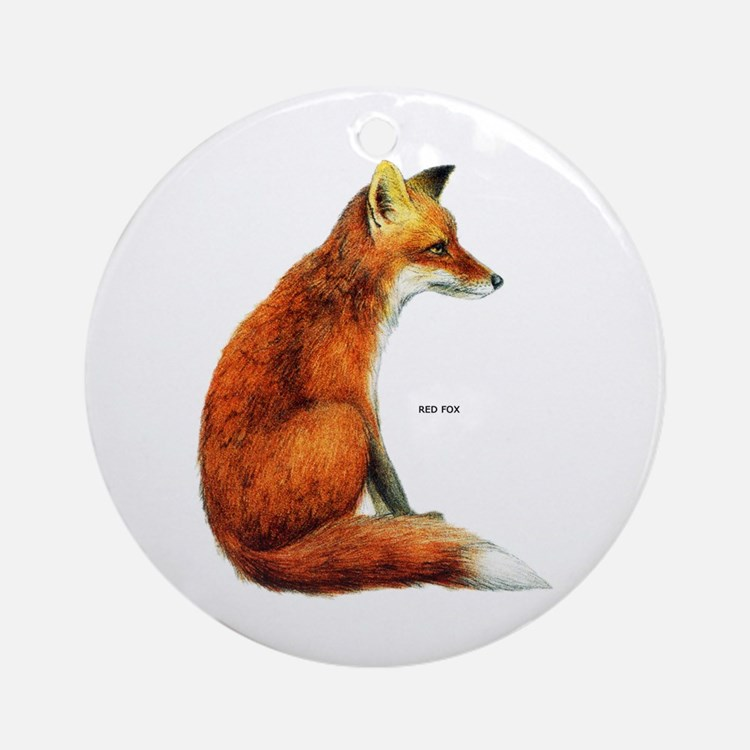 Red Fox Animal Ornament (Round)