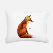 Red Fox Animal Rectangular Canvas Pillow