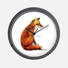 Red Fox Animal Wall Clock