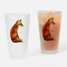Red Fox Animal Drinking Glass
