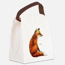 Red Fox Animal Canvas Lunch Bag