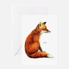 Red Fox Animal Greeting Card