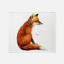 Red Fox Animal Throw Blanket