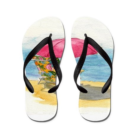 Beach Chair Flip Flops By YvonneCarter