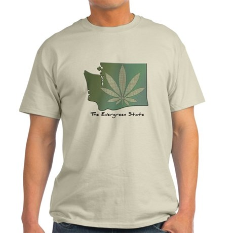 Washington State Pot Leaf - Evergreen State T-Shir