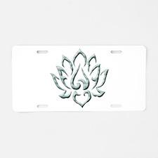 Lotus Flower Aluminum License Plate