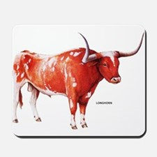 Longhorn Texas Cattle Mousepad