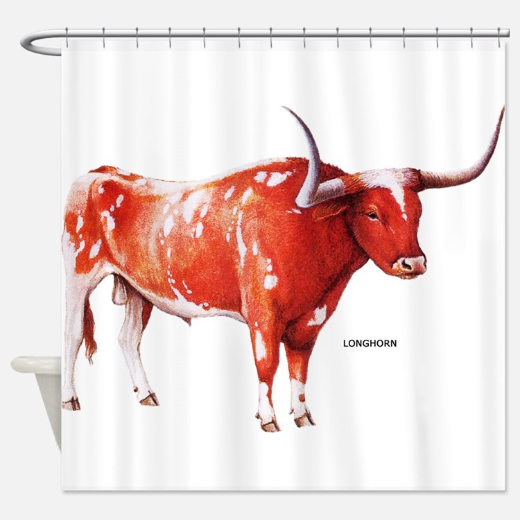 Longhorn Texas Cattle Shower Curtain