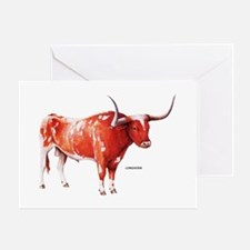 Longhorn Texas Cattle Greeting Card