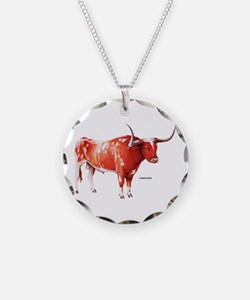 Longhorn Texas Cattle Necklace