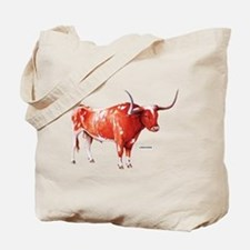 Longhorn Texas Cattle Tote Bag