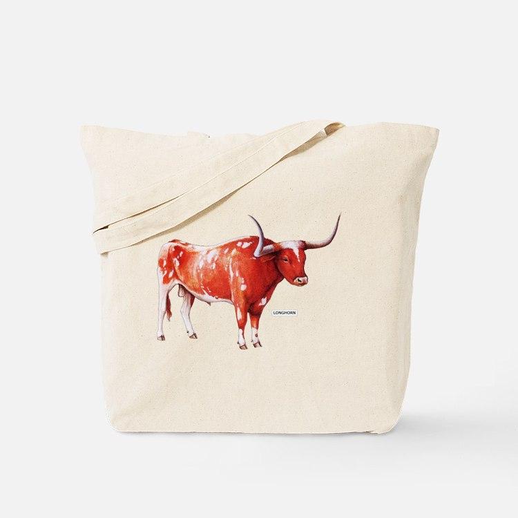 Longhorn Texas Cattle Tote Bag
