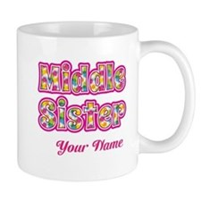 Middle Sister Pink Splat - Personalized Mug