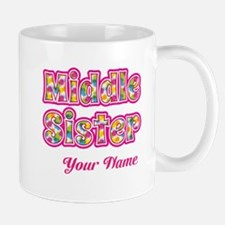 Middle Sister Pink Splat - Personalized Mug