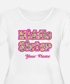 Middle Sister Pink Splat - Personalized Plus Size