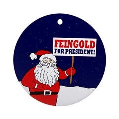 Santa For Feingold Ornament (Round)