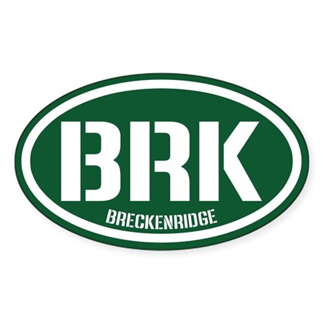 Breckenridge Sticker (Oval)