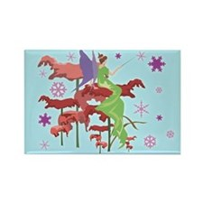 Christmas Fairy Rectangle Magnet