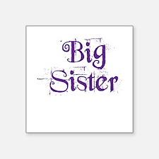 Big Sister Grunge Purple Sticker