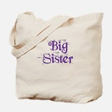 Big Sister Grunge Purple Tote Bag