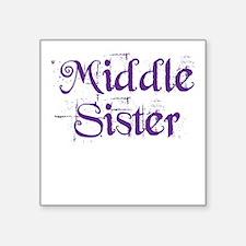 Middle Sister Grunge Purple Sticker
