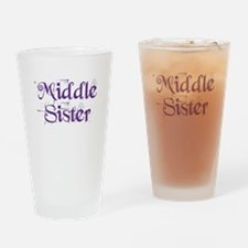 Middle Sister Grunge Purple Drinking Glass