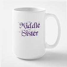 Middle Sister Grunge Purple Mug