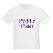 Middle Sister Grunge Purple T-Shirt