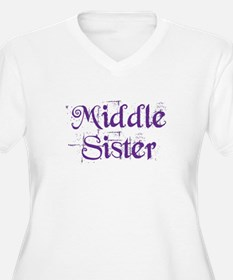 Middle Sister Grunge Purple Plus Size T-Shirt