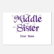 Middle Sister Grunge Purple - Personalized! Postca