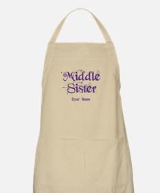 Middle Sister Grunge Purple - Personalized! Apron