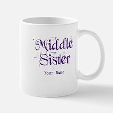 Middle Sister Grunge Purple - Personalized! Mug
