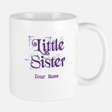 Little Sister Grunge Purple - Personalized Mug