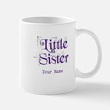 Little Sister Grunge Purple - Personalized Small Small Mug