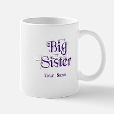 Big Sister Grunge Purple - Personalized Small Small Mug